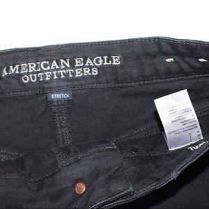 American Eagle Outfitters Shorts - American Eagle Hi-Rise Festival Black Denim Shorts